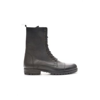 Genuine Leather Black Floter Men Boots TR_BUL-200049