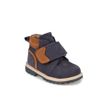 VOSKI LEATHER 9PR Navy Blue Boy Boot