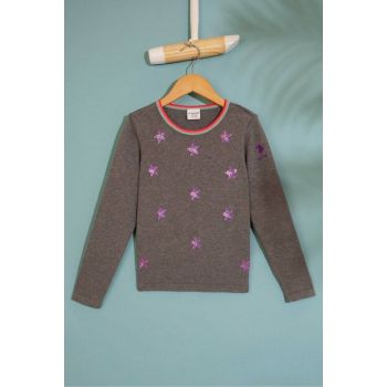 Gray Girl's Gold Knitwear Sweater G084SZ0TK.000.817730