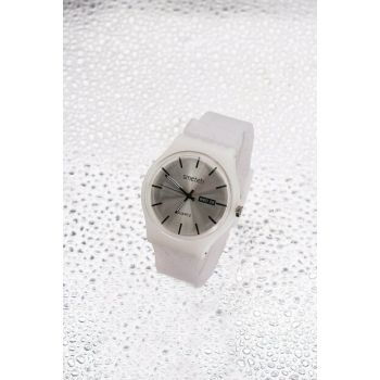 White Color Silicone Watch Women's Watch 8699000096919