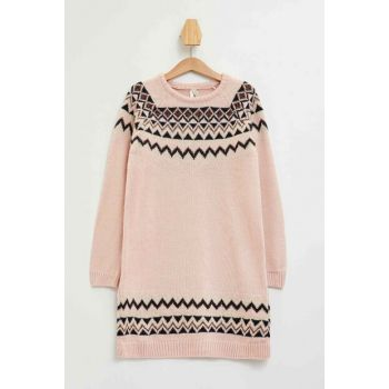 Ethnic Patterned Sweater Dress K9544A6.19AU.PN141