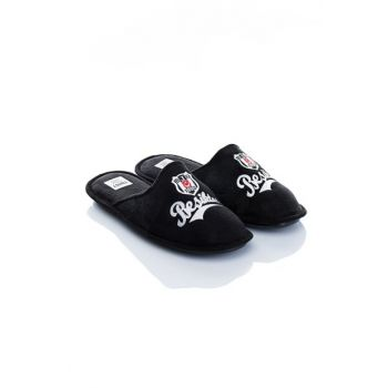 Black Men's Slippers WNNK102