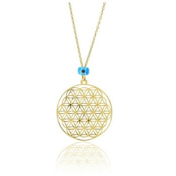 Women's Flower of Life Necklace SGTL7959GOLD