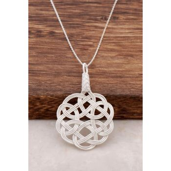 Love Knot Casual Hand Wrapped Silver Pendant 149 314420