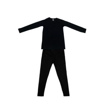 Children's Black Long Sleeve Viscose Suit Thermal Clothing & Underwear ELF568TUT01350136T