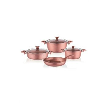 3457 Master Cook 7 Pieces Granite Cookware Set Rose Gold 2019ST000391
