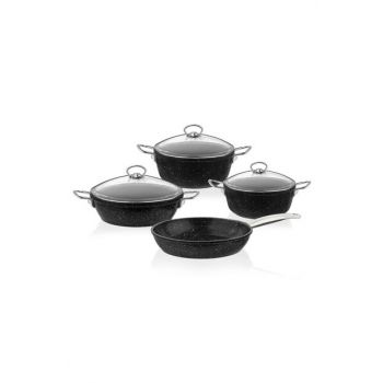 3449 Granite Casting 7 Piece Cookware Set Black 2019ST000586
