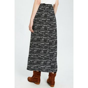 Women's Black Printed Skirt 0S5095Z8