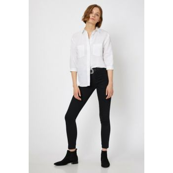Women Black Trousers 0KAK47337DD
