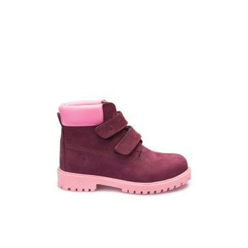 Genuine Leather Lilac Unisex Boots A3374219