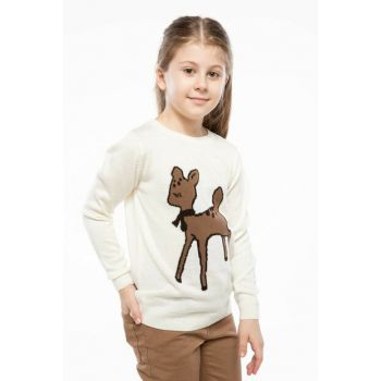 Ecru Girl Sweater Sweater I7425A6.18AU.ER105