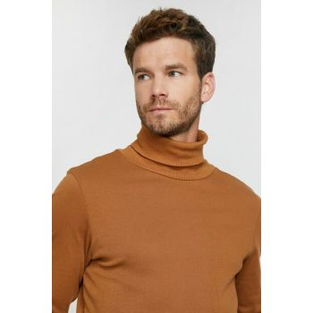 Men's Coffee Turtleneck T-Shirt 0KAM12229LK