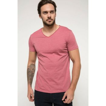 Men's Basic V Neck T-shirt G5717AZ.18SM.BR293