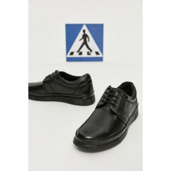 Genuine Leather Black Men Classic Shoes 02AYY162330A100