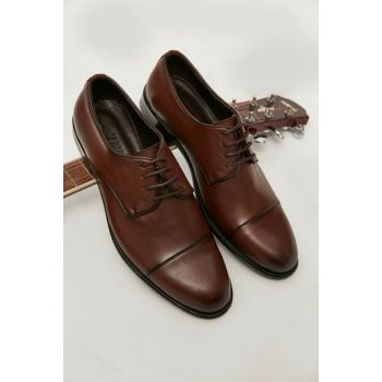 Genuine Leather Brown Men Classic Shoes 02AYY162450A480