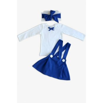 Blue Straped Skirt Long Sleeve Body Suit / 18-24 MONTH TKM-0022