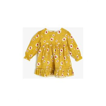 Yellow Baby Floral Dress 0KMG89206ZW