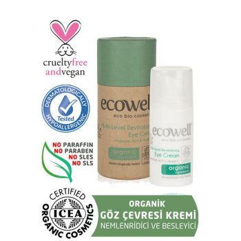 Organic Revitalizing Eye Contour Cream (15 ml) - Hyaluronic Acid 8680624090155