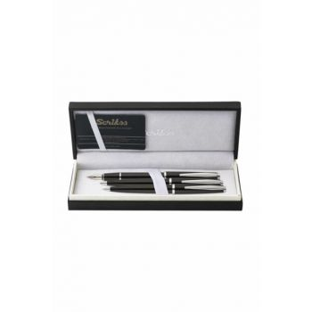 Vintage 33 Fountain Pen, Ballpoint Pen, Mechanical Pencil Triple Set Black M000SAII3302A