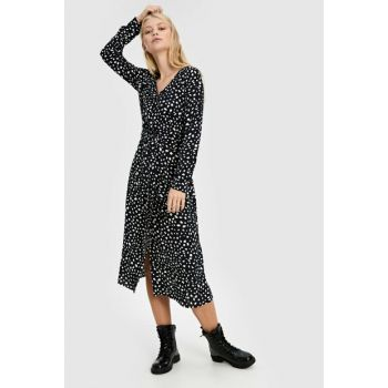 Women's Black Printed Dress 9WU621Z8