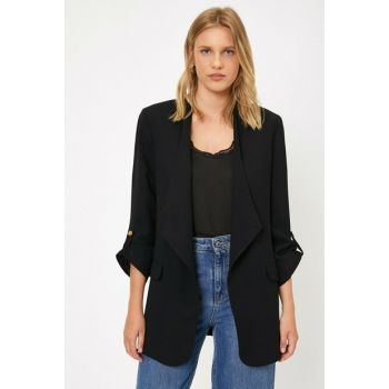 Women's Black Pocket Detailed Jacket 0KAK52102UW