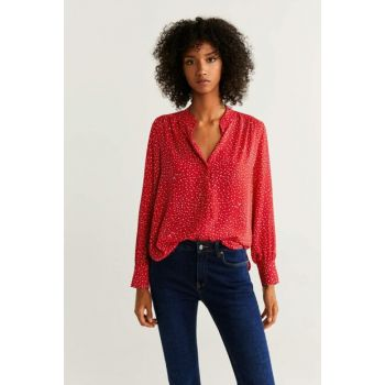 Women's Red Flowy Blouse 51923711