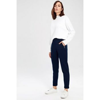 Women's Navy Blue Trousers 9W2407Z8