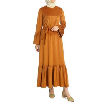 Women's Taba Skirt And Sleeve Flywheel Dress ELB03214_TAB