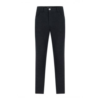 Men's Anthracite Slim Fit Cotton Trousers 356925