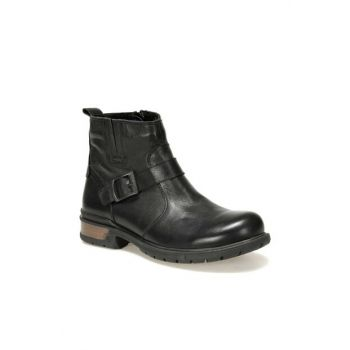 Genuine Leather Black Men Boots 3103 C 19