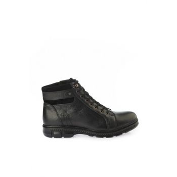 Genuine Leather Black Men Boots & Bootie 02BOY163050A100