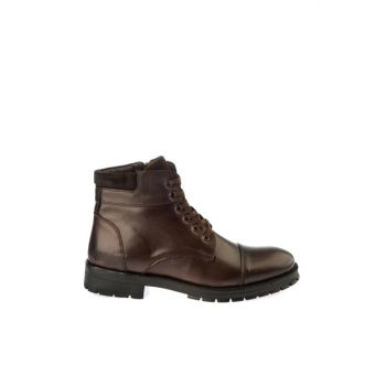 Genuine Leather Brown Men Boots & Bottie 02BOY163030A480