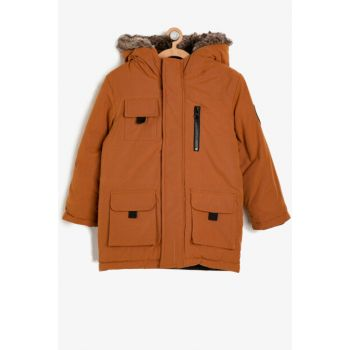 Yellow Boy Hooded Coat 9KKB26536OW