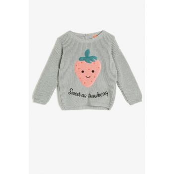 Baby Girl Embroidered Sweater 0KMG99342OT