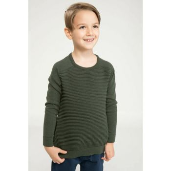 Khaki Boy Basic Striped Sweater I9111A6.18AU.NM59