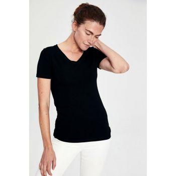 Women's New Black T-shirt 0S2157Z8