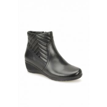 Women's Genuine Leather Black Boots 000000000100337800