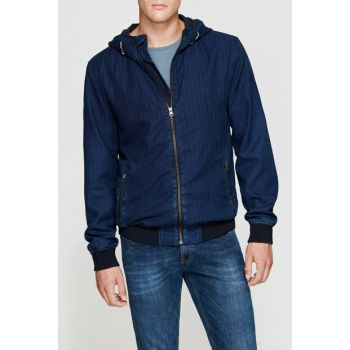 Men's Denim Bomber Jacket 010053-18790