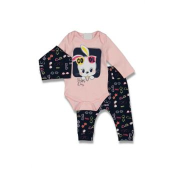 Light Pink Baby Girl Cool Bunny 3-Piece Set AF90258