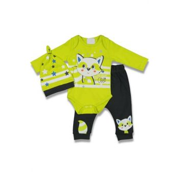 Green Starred Raccoon Baby Boy Set of 3 AF90294Y