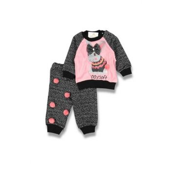 Pink Fahroni Girl's Pink Pompom Rabbit Suit 6680400