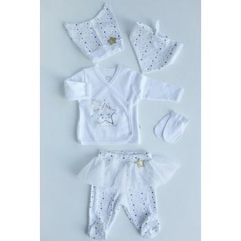 White Litle Star 5 Li Baby Suit IMJ-5-042