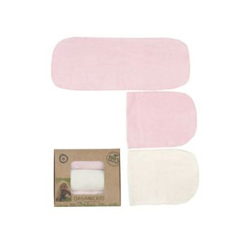 Organic Triple Baby Fiber Set - Pink Cream 100% Cotton 10131004