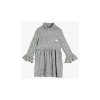 Gray Child Printed Dress 0KKG87999AK