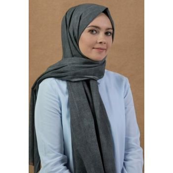 Dark Gray Mia Texture Shawl 10103