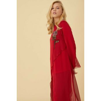 Women's Red Suit Kayra-KA-B9-16039