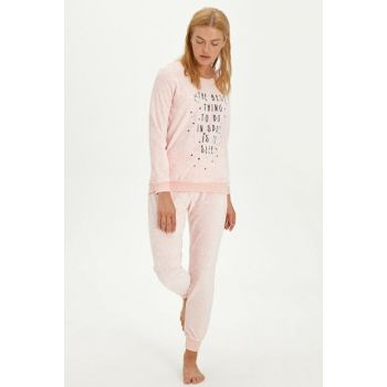 Women's Pink Pajama Set 9W6726Z8