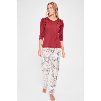 Bordeaux Printed Pajama Set THMAW20PT0178