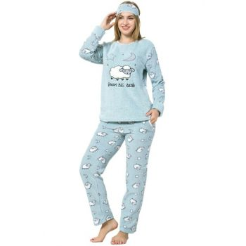 Women's Water Green Wellsoft Pajamas Set 8050
