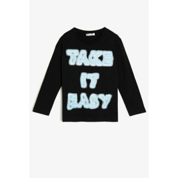 Black Children's T-Shirt 0KKB16934OK